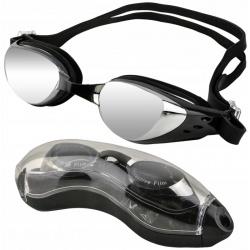 Okulary pływackie okularki do pływania na basen antifog etui zatyczki do nosa uszu
