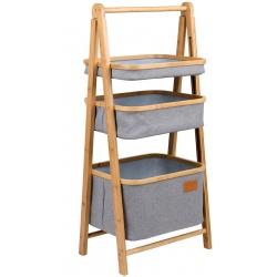 Turystyczna szafka drewniana Bayswater koszyki organizer półki stojak do łazienki