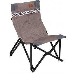 Składane krzesło turystyczne kempingowe bardzo wygodne Brooklyn TAUPE