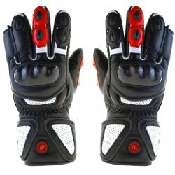 Ogrzewane rękawice motocyklowe GDBL GLOVii skórzane ochraniacz na kostki