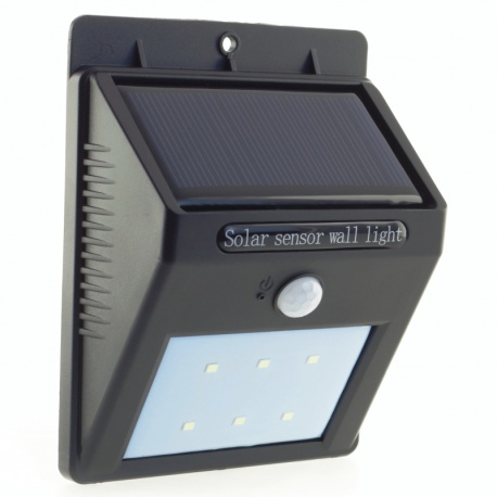 Kinkiet solarny lampa zewnętrzna z czujnikiem ruchu i zmierzchu do przykręcenia Power Need SL09P