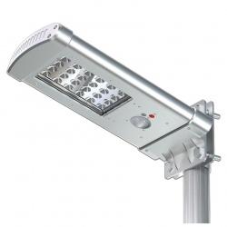 Solarna lampa uliczna LED z czujnikiem ruchu panel słoneczny 7W ogrodowa oświetlenie alejki czujnik zmierzchowy