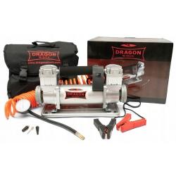 Dwutłokowy kompresor samochodowy zasilany napięciem 12V spiralny przewód wysoka wydajność 150 l/min DRAGON WINCH
