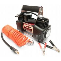 Kompresor samochodowy 12V przewód wydajność 60l na minutę DRAGON WINCH oświetlenie
