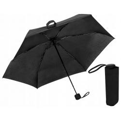 Parasol mini składany mała parasolka włókno 18cm z pokrowcem porządny