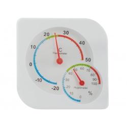 Termometr higrometr miernik wilgotności analogowy pokojowy wskazówkowy