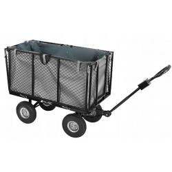 Wózek ogrodowy 250 litrów przyczepka do ciągnięcia składane burty