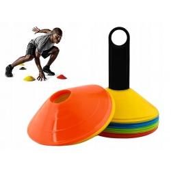 Pachołki treningowe elastyczne grzybki talerzyki trening na boisku