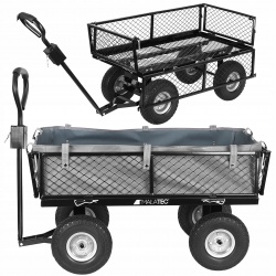 Transportowy wózek ogrodowy przyczepka koła PU ładowność 350 kg