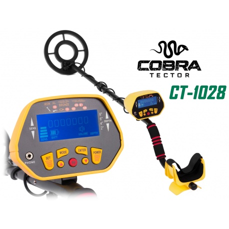 Elektroniczny detektor wykrywacz metalu metali dyskryminacja Cobra Tector CT-1028