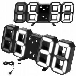 Zegar cyfrowy ścienny wiszący lub stojący termometr alarm budzik