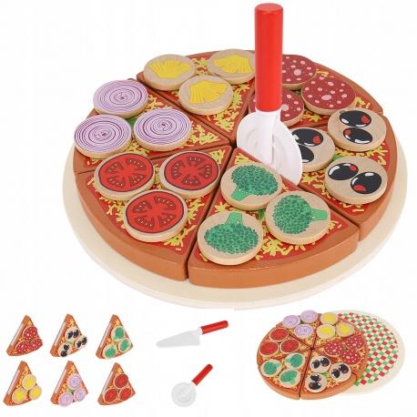 Pizza drewniana do krojenia układania na rzep 6 kawałków pizzy talerz