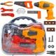 Skrzynka z narzędziami walizka warsztat wkrętarka piła plastikowe narzędzia