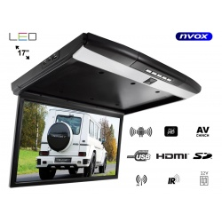 Monitor podwieszany podsufitowy NVOX LED 17 cali system ANDROID USB SD FM BT WIFI