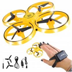 Mały dron sterowany ręką gestami LED lewitujący mini UFO osłony