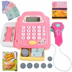 Duża kasa sklepowa dla dzieci kalkulator pieniądze skaner zabawa w sklep