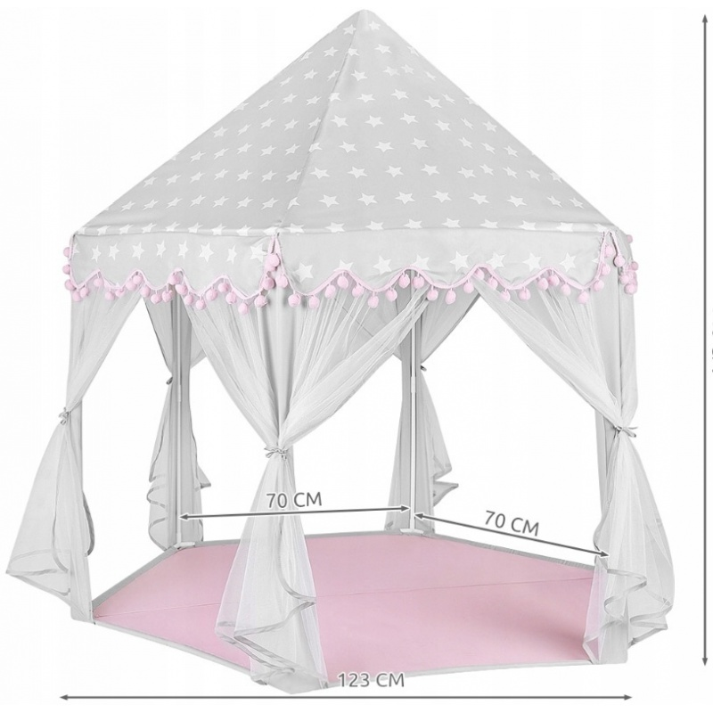 Piękny namiot dla dzieci domek pałac do ogrodu pokoju do zabawy