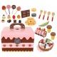 Zabawkowa cukiernia rolada babeczki drewniane słodycze lizaki skrzyneczka