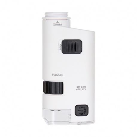 Mikroskop kieszonkowy z klipsem do smartphone Levenhuk Zeno Cash ZC14 oświetlenie LED powiększenie w zakresie od 80 do x120
