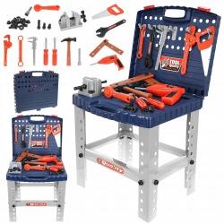 Stół warsztatowy narzędzia w walizce imadło do skręcania warsztat dla dzieci