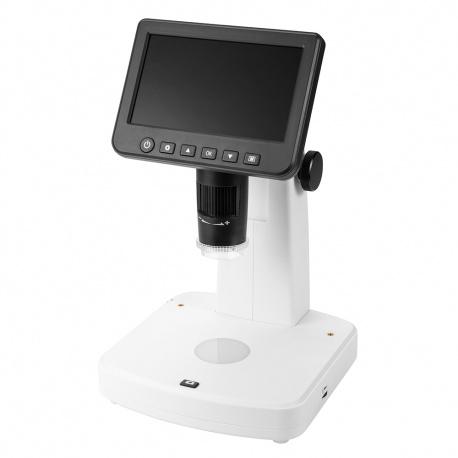Cyfrowy mikroskop Levenhuk DTX 700 LCD z przybliżeniem cyfrowym 10–1200 razy wyświetlaczem LCD i kamerą 5 Mpix