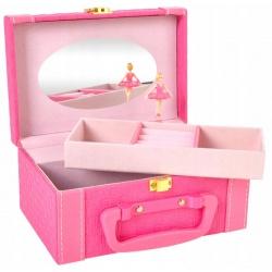 Pozytywka z baletnicą szkatułka zamykany kuferek pudełko na biżuterię