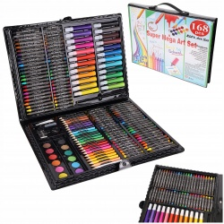Zestaw artystyczny do malowania rysowania kredki farby 168 elementów