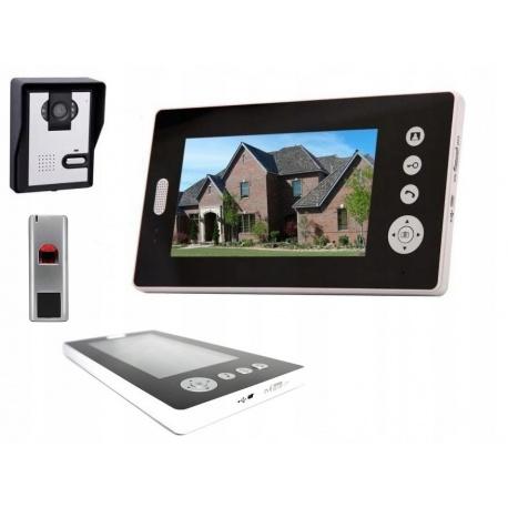 Wideodomofon bezprzewodowy kamer ekran LCD 7 cali czytnik linii papilarnych Reer Electronics