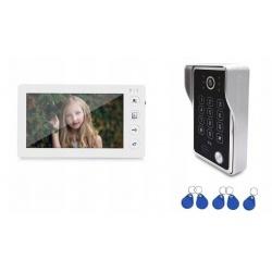 Wideodomofon Reer Electronics panel LCD 7 cali kamera otwieraniem furtki lub bramy pastylkami kod dostępu