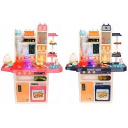 Zabawkowa kuchnia dla dzieci kuchenka zmina para wodna naczynia sztućce