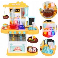Kuchnia dla dzieci zabawkowa okap kuchenny kran naczynia sztućce