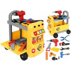 Warsztat wózek narzędziowy na kółkach narzędzia dla dzieci wkrętarka