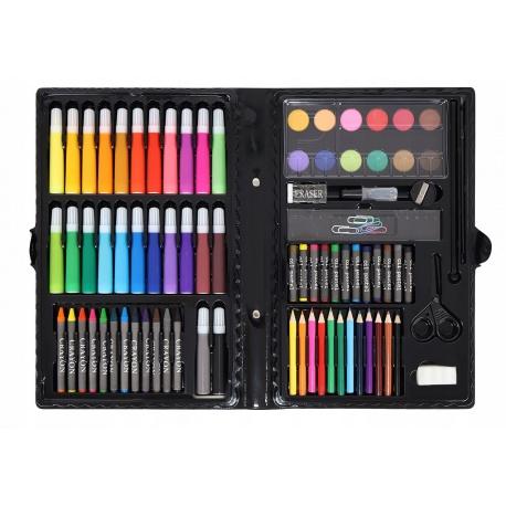 Artystyczny zestaw do malowania w walizce rysowania kredki farby 86 el