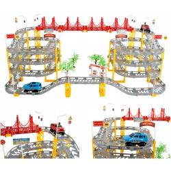 Tor elektryczny wielopoziomowy samochodziki auta wyścigowy 8 metrów