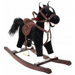 Koń na biegunach konik 65cm dźwięki rusza ogonem i pyszczkiem interaktywny