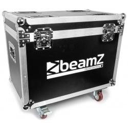 Skrzynia na kółkach do transportu 2 sztuki ruchomych głowic BeamZ Ignite180 dwie oddzielne komory
