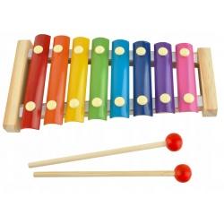 Kolorowe drewniane cymbałki dla dzieci edukacyjne pierwszy instrument
