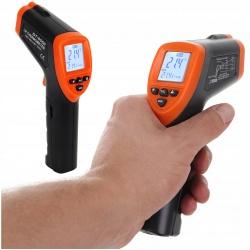 Pirometr termometr na podczerwień wskaźnik laserowy wyświetlacz