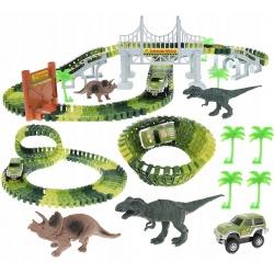 Terenowy tor samochodowy Dinozaury Park dinosaur 153 elementy XL