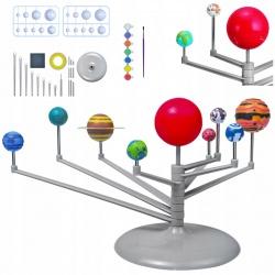 Zestaw planety Układ Słoneczny zbuduj model DIY do złożenia i pomalowania