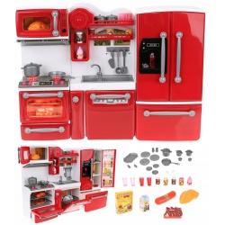 Kuchnia dla lalek otwierane zamykane mebleki AGD szafki modułowe