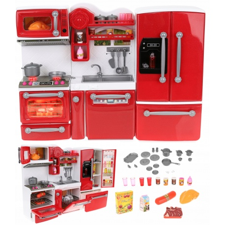 Otwierane zamykane mebleki kuchnia dla lalek AGD szafki modułowe