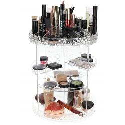 Organizer na kosmetyki biżuterię obrotowy stojak ekspozytor składany