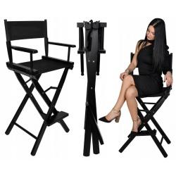 Krzesło do makijażu Make-Up reżyserskie drewniane składane hoker z oparciem