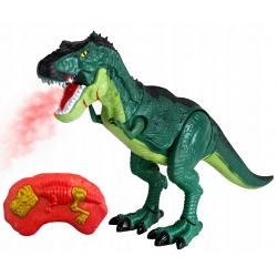 Dinozaur zdalnie sterowany ziejący ogniem ryczy dźwięki chodzi
