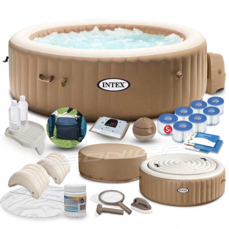 Dmuchane SPA masażem pokrywa podgrzewacz wody 196 x 71cm INTEX 28476