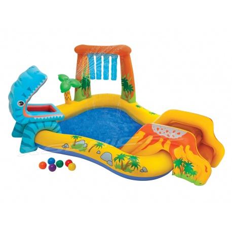 Wodny plac zabaw zjeżdżalnia dla dzieci Dinozaury 249 x 191 x 109 cm 57444 INTEX
