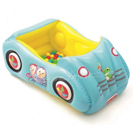 Kojec dmuchany samochód dla dzieci piłeczki 119 x 79 x 51 cm Bestway 93535