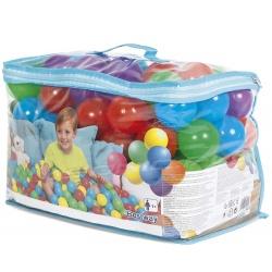 Piłeczki plastikowe 100 sztuk do basenu brodzika kolorowe Bestway 52296