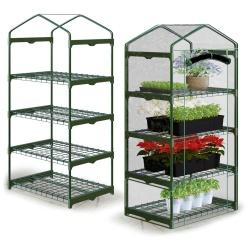 Pionowa szklarnia ogrodowa 70 x 50 x 160 cm na balkon półki do uprawy roślin